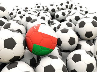 Football with flag of oman