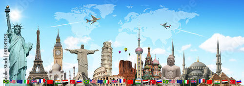 Travel the world monuments concept - 63541343