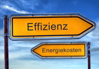 Strassenschild 1 - Effizienz
