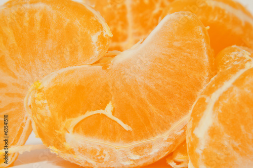 Orange macro mandarin or tangerine as background