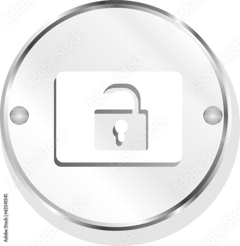 open padlock icon web sign isolated on white