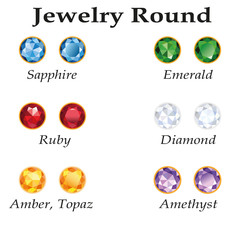 Jewelry Round. Isolated Objects