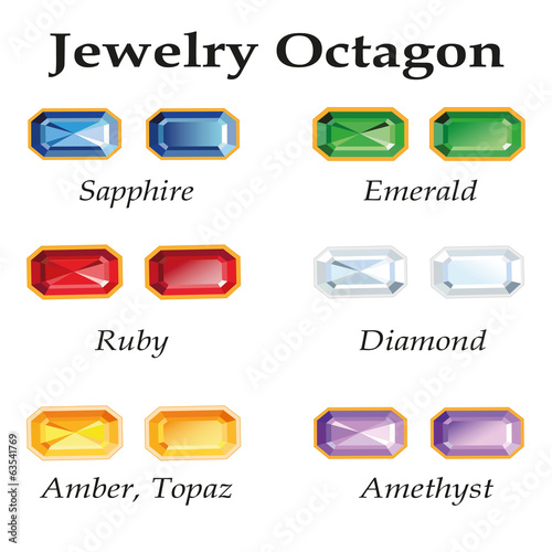 Jewelry Octagon. Isolated Objects