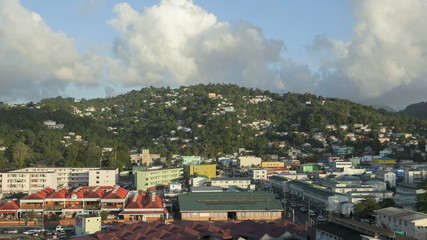 Timelapse Cityview of Castries in St Lucia