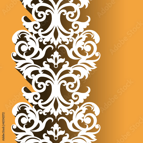 Vector Victorian ornamental border in flat design style.