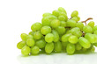 green grapes closeup on white background