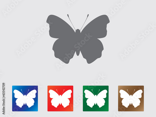 Beautiful butterfly icon collection