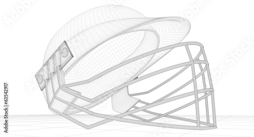 Cricket Helmet Wireframe