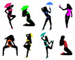 Beach women silhouettes