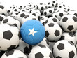 Football with flag of somalia