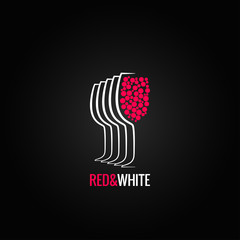 wine glass red and white backgraund