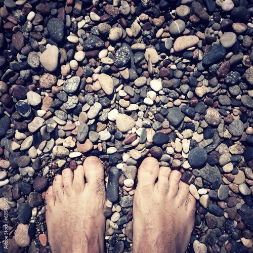feet on the rocks