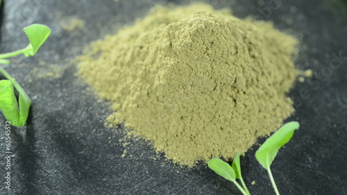 Small portion of Sage Powder (loopable HD video)