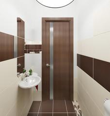 Туалет интерьер в современном стиле