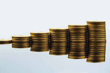 Gestapelte Münzen, Aufwärtstrend