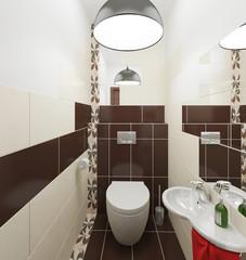 Туалет интерьер