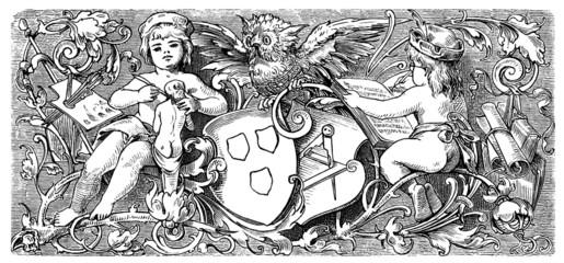 Page Ornament : The Arts - Symbol - 19th century