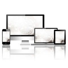Mobile phone, tablet pc, laptop and computer