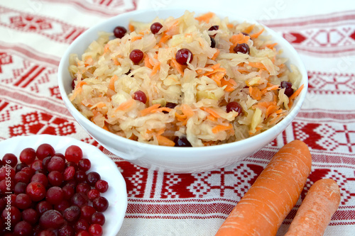 Sauerkraut with a cranberry
