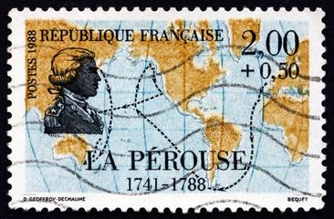 Postage stamp France 1988 Jean-Francois de La Perouse, Explorer