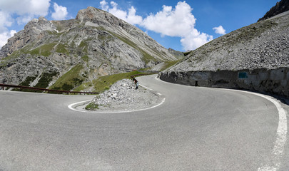 Stelvio pass in the Alps
