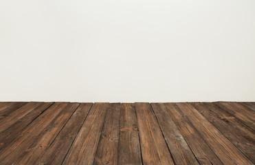 wooden floor, old wood plank, brown vintage board room interior
