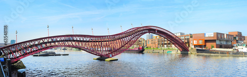 Fotobehang Amsterdam Python bridge, Amsterdam