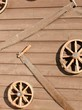 Carriage wheels and saws