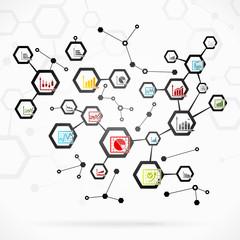 Complex infographics network