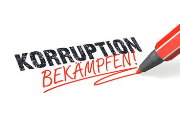 Korruption bekämpfen!