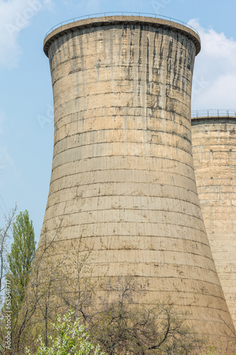 Abandoned Nuclear Power Plant Cooling Towers