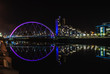 Clyde Arc bridge in Glasgow at night - 63549983