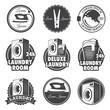 Set of vintage laundry emblems, labels and designed elements. - 63550155