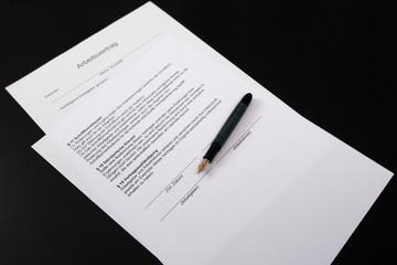 Arbeitsvertrag Unterschrift