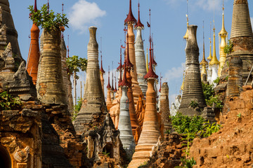 Ancient stupas at Inn Thein Paya, Shan state, Myanmar