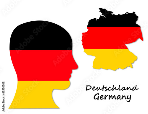 German symbols: population and map