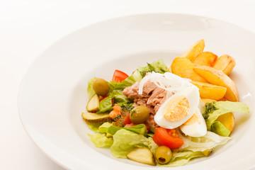 fresh salad with potatoes