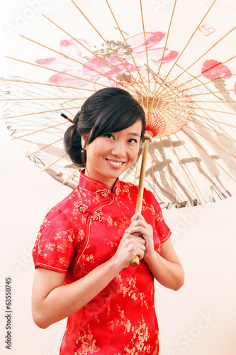 chinese woman with umbrella