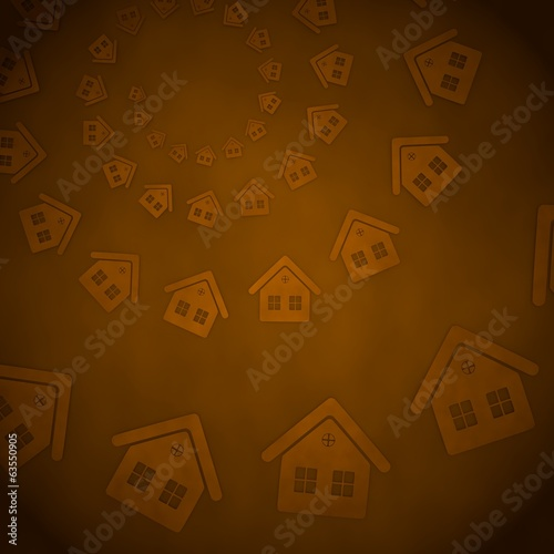 3d render of a funny house label  on vintage background