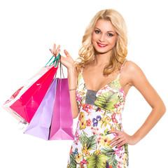 Vogue. Beautiful blonde in cute dress