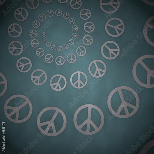 3d render of a soft peace label  on vintage background