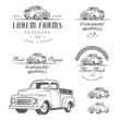 Set of retro farming labels, badges and design elements - 63551384