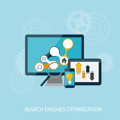 Search Engines Optimization Concept Vector Illustration