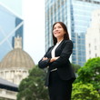Businesswoman confident outdoor in Hong Kong