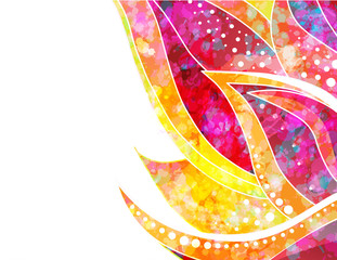 Vector abstract floral background. EPS 10