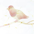Floral Bird / Romantic surreal card