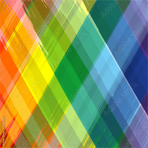 Abstract rainbow color drawing plaid background