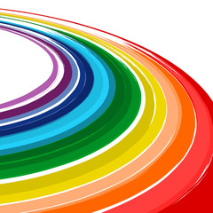 Art abstract rainbow color curved vector background