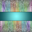canvas print picture - fantastic illustrated glass background pattern
