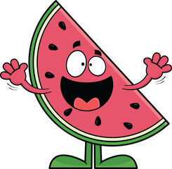 Smiling Cartoon Watermelon